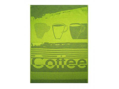 Ściereczka kuchenna - Coffee Limonka - oliwkowy - 50x70 cm - Exclusive Greno