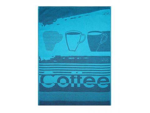 Ściereczka kuchenna - Coffee Turkus - turkusowa - 50x70 cm - Exclusive Greno