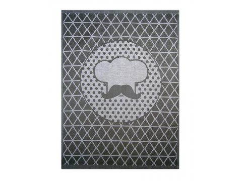 Ściereczka kuchenna - Cook Antracyt - srebrna - grafit -  50x70 cm - Exclusive Greno