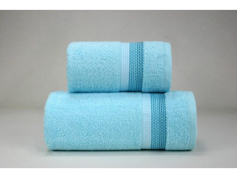 Ręcznik Ombre  - aqua z bordiurą - 70x140 cm - Fine Collection - Greno