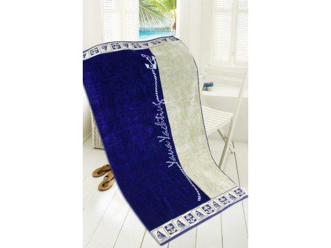 Ręcznik plażowy - 85x170 cm - kąpielowy - Sailing - Greno