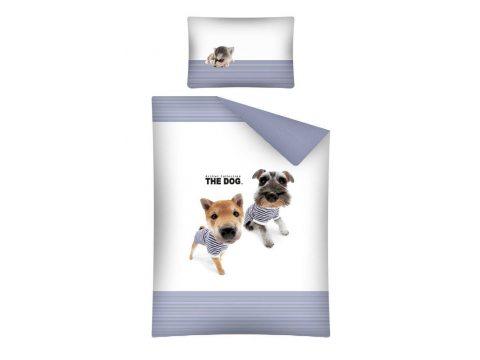 Pościel dla dzieci do łóżeczka - biała, granatowa, czarna, brązowa - 100x135 cm - Dog 15 A - Detexpol