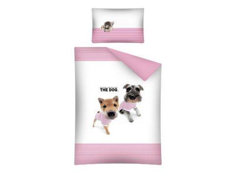 Pościel dla dzieci do łóżeczka - biała, różowa, czarna, brązowa - 100x135 cm - Dog 15 B - Detexpol