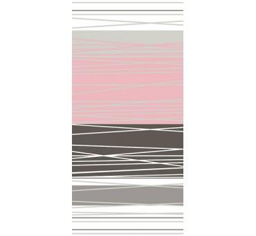 Komplet pościeli satynowej - biała, szara, grafitowa, różowy puder w paski - 160x200 cm - Dynamiczna Pudrowa - Bielbaw