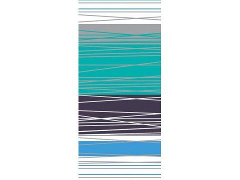 Pościel Satynowa - biała, szara, granatowa, turkusowa, niebieska w paski - 160x200 cm - Dynamiczna Turkusowa - Bielbaw