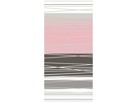 Komplet pościeli satynowej - biała, szara, grafitowa, różowy pudr w paski - 220x200 cm - Dynamiczna Pudrowa - Bielbaw