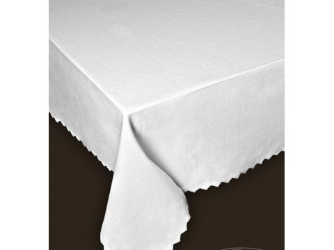 Obrus plamoodporny - 110x160 cm - biały - Len