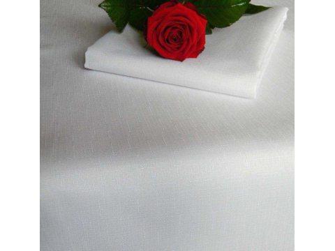 Obrus plamoodporny -Len - Biały - 140 x 280 cm