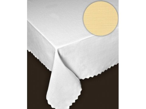 Obrus - Plamoodporny -  Len - Żółty - Jasny  150 x 240