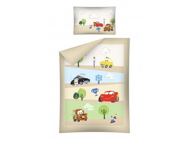 Komplet pościeli dziecięcej  Cars / Auta 100x135 cars 18 A do łóżeczka