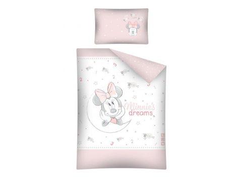 Pościel dla dzieci z bawełny  Myszka Minnie 100x135 STC 25 A   do łóżeczka  Mickey Mouse
