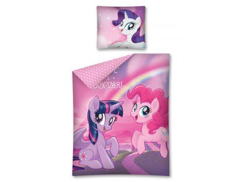 Pościel  licencyjna fioletowa, różowa z kucykami  My Little Pony  -  160 x 200  MLP 31