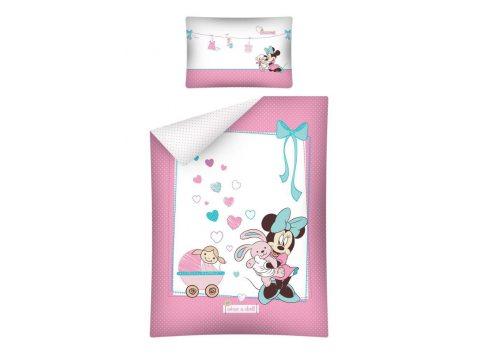 Pościel dziecięca biało różowa Myszka Minnie  do łóżeczka  Mickey Mouse  -  100 x 135  STC 15  A