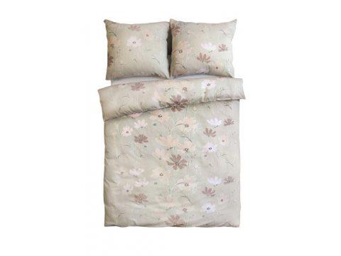 Pościel z satyny - Sweet Home - różowo, morelowe kwiaty  - 160x200 cm - Bonus 25- wz. 18610/2  - Andropol