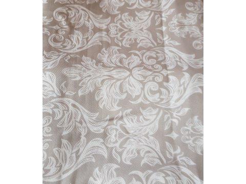 Pościel satynowa - biało, szary, grafitowy -  wzór secesyjny - 220 x 200 cm  Carlo Macci wz. 2434 B