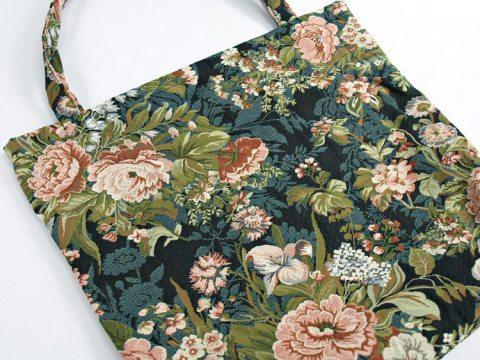 Torba gobelinowa- duża - 42x40 - butik - Duże Kwiaty