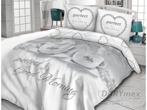 Pościel bawełniana - Vintage - biało, szay - Good Morning - 160x200 -  wz. 61416/1