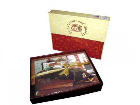 Komplet pościeli  haftowanej satynowej Tereza 160x200   Greno - na prezent