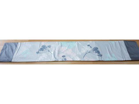 Pościel z satyny - Kwiat Kopru - jasno szary -  miętowy - Andropol  200x220  + 2 jaśki wz 18503/1