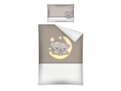 Pościel dla dzieci z bawełny do łóżeczka -Uroczy  Miś - 100x135 + 40x60 - 2664 b