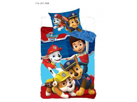 Pościel z bawełny dla dzieci - Psi Patrol - 140x200 +70x80 - Paw 710-297
