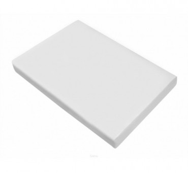 Prześcieradło satynowe 220x210 - Biały - Greno bez gumki