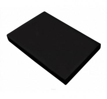 Prześcieradło satynowe 220 x 210 - Czarny - Greno bez gumki   czarne