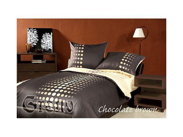 Pościel satynowa Greno  XQ  Chocolate Brown 160x200