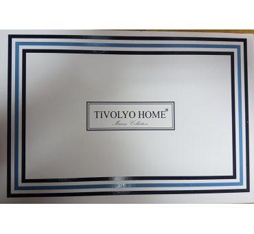 Ekskluzywna pościel satynowa - Banda Beige - 200x220 - Tivolyo  Embroidery Satin