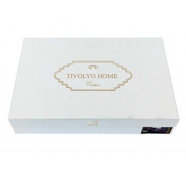 Ekskluzywna pościel żakardowa - Hampton Beige - 200x220 -  Tivolyo