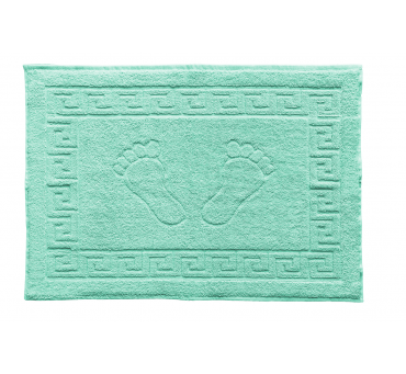 Dywanik łazienkowy - Stopki - Klucz grecki - 50x70 cm  Miętowy