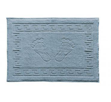 Dywanik łazienkowy - Stopki - Klucz grecki - 50x70 cm  Niebieski