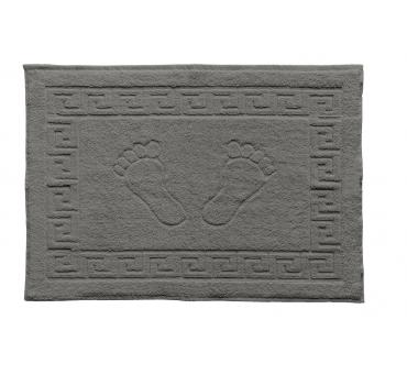 Dywanik łazienkowy - Stopki - Klucz grecki - 50x70 cm  Grafitowy