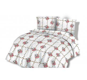Pościel  Flanelowa 140x200 +70x80 - Różowe Różyczki -  wz. 31450/1