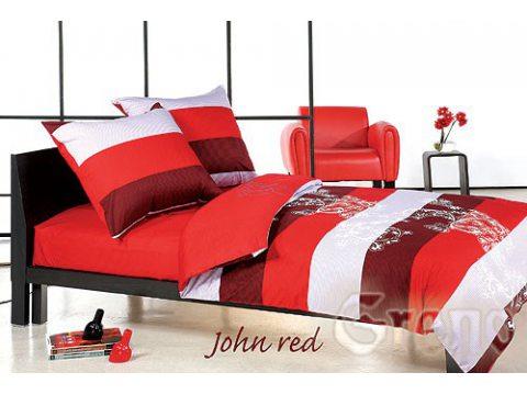 Pościel satynowa Greno  XQ  John Red 160x200