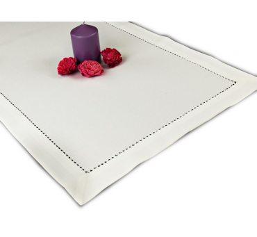 Bieżnik z mereżką - biała - 50 x 100 cm  - Mereżka