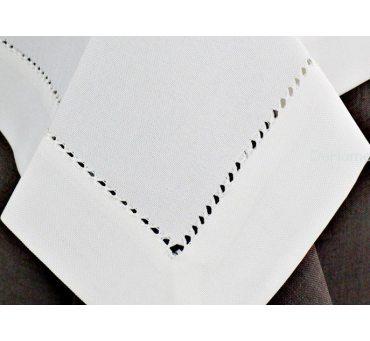 Obrus z mereżką 150x300  biały