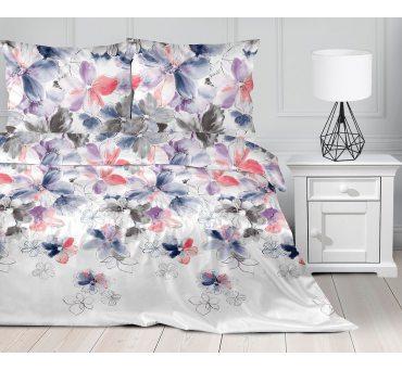 Pościel satynowa  Frotex - Morning Mist - Kolorowe Kwiaty  - 220 x 200  greno