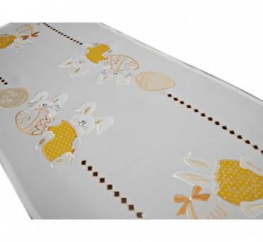 Bieżnik haftowany  40x85 cm Zajączki Żółte 18326 Wielkanoc