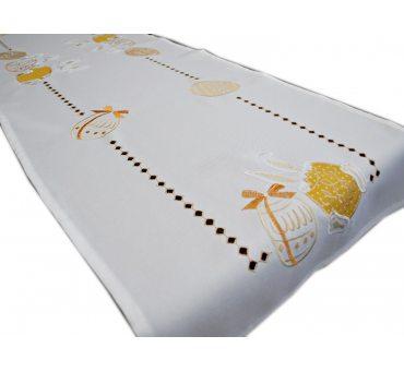 Bieżnik haftowany  40x140 cm Zajączki Żółte 18326 Wielkanoc