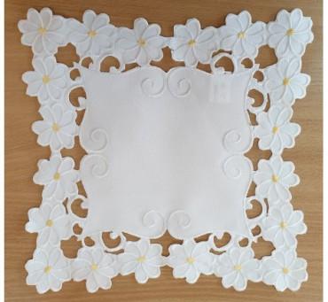 Serwetka - Margaretki - 30x30 - Biały 1809-3