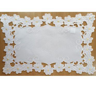 Bieżnik - Margaretki - 30x45 - Biały 1809-3