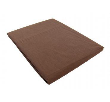 Prześcieradło bawełniane Słodkie Sny  160x215 -  Brązowe  -  bez gumki z bawełny