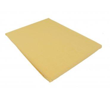 Prześcieradło bawełniane Słodkie Sny  160x215 -  Jasno żółty  -  bez gumki z bawełny