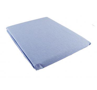 Prześcieradło bawełniane Słodkie Sny  160x215 - Niebieskie - bez gumki z bawełny