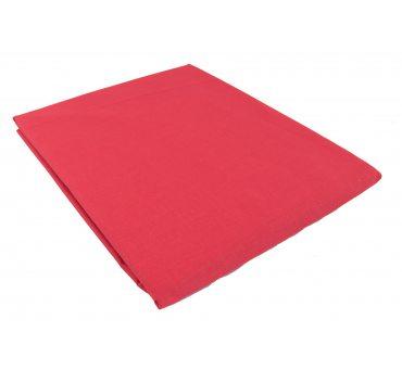 Prześcieradło bawełniane Słodkie Sny  220x200  -  Czerwone -  bez gumki z bawełny