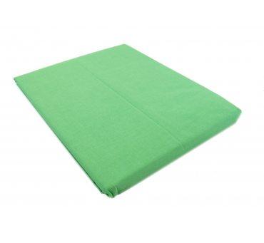 Prześcieradło bawełniane Słodkie Sny  220x200  -  Zielone -  bez gumki z bawełny