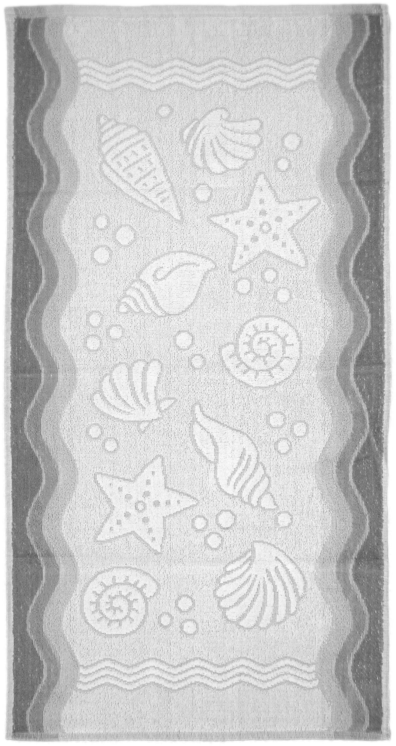 Ręcznik Flora Ocean - Popielaty - 70x140 - Everday Collection - Greno