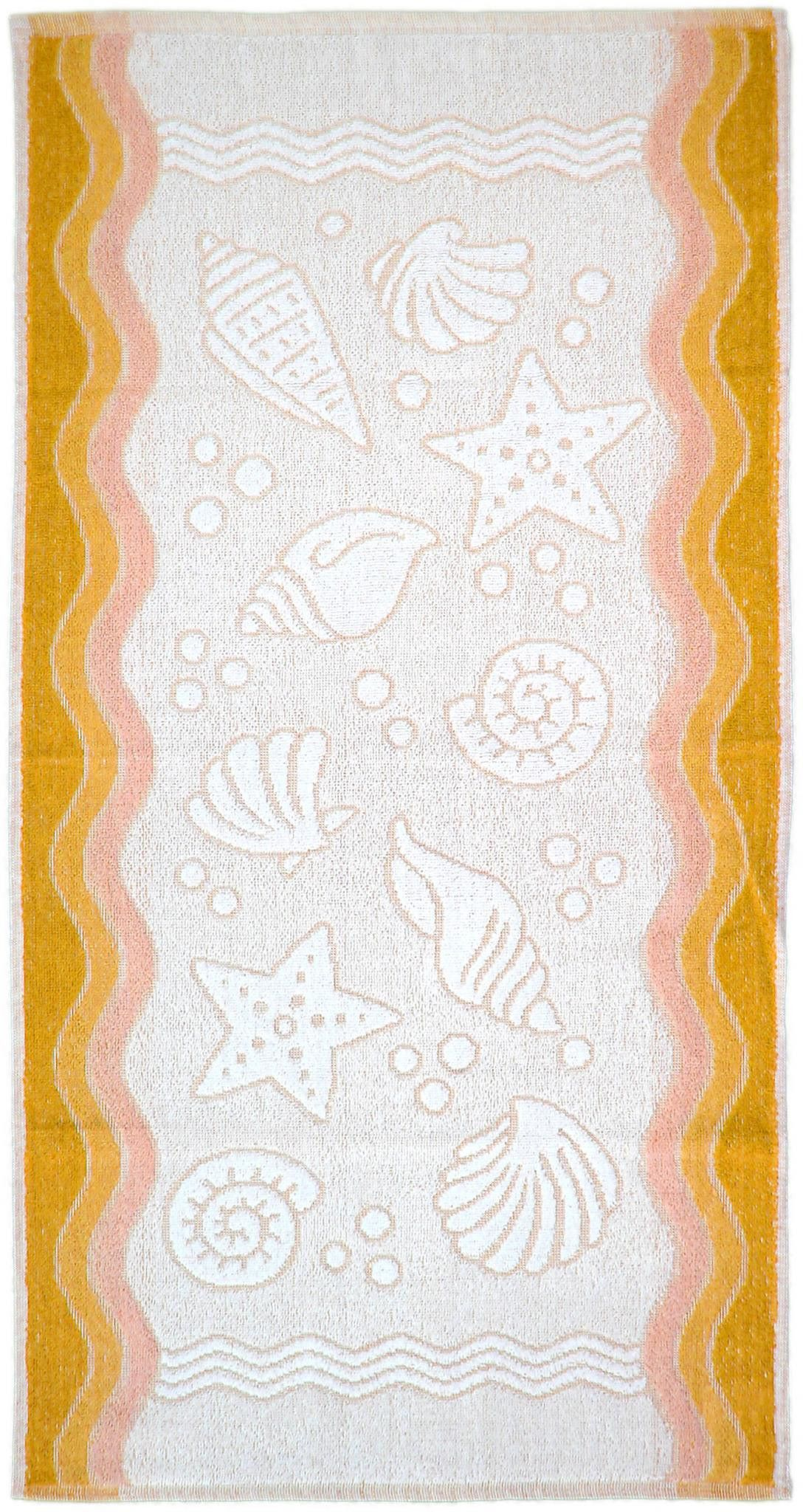 Ręcznik Flora Ocean - Żółty - 70x140 - Everday Collection - Greno