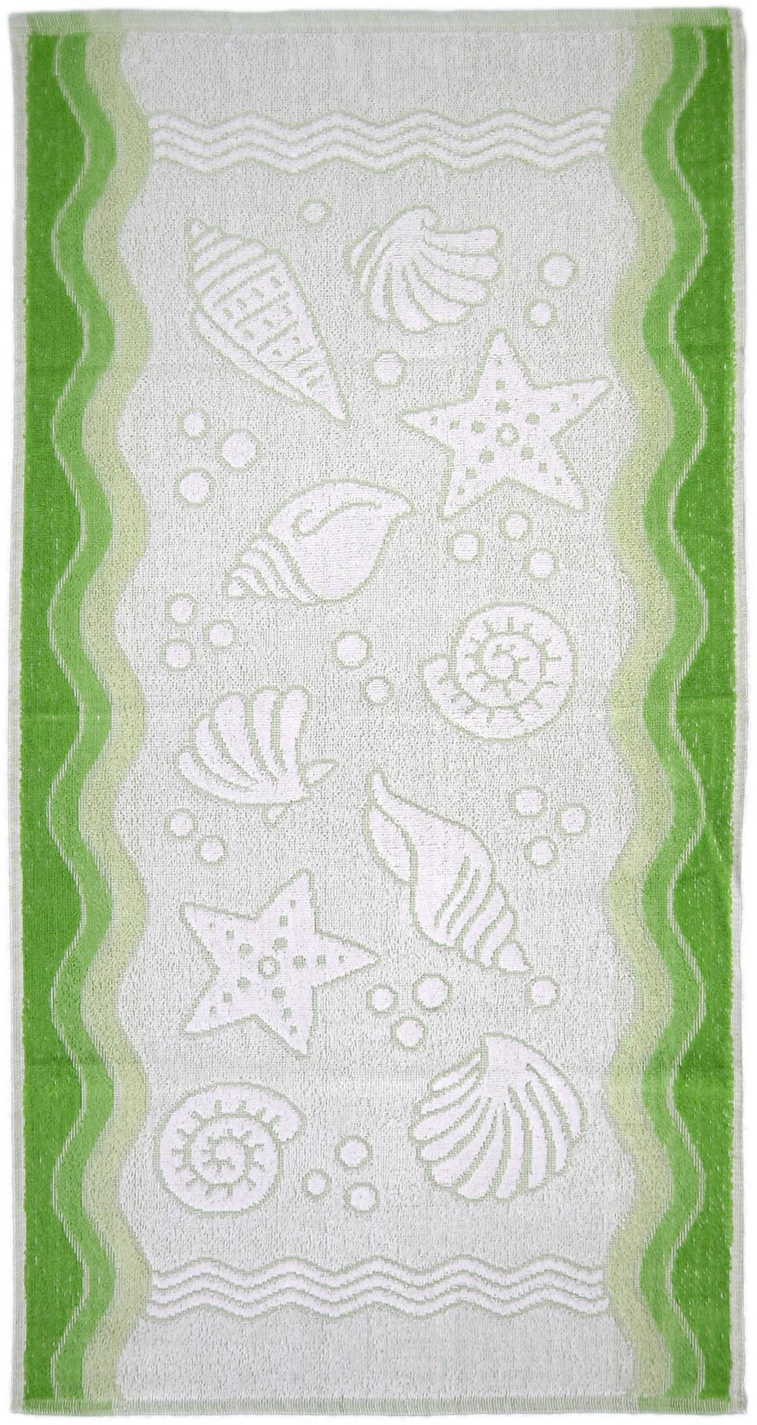 Ręcznik Flora Ocean - Zielony - 80x150 cm - Everday Collection - Greno